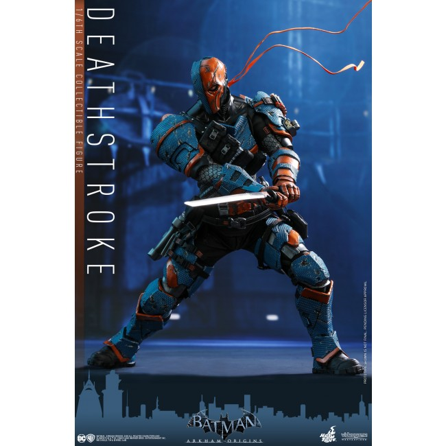 Arkham Origins 1//6 Deathstroke Figure New Hot Toys VGM30 Batman Ready