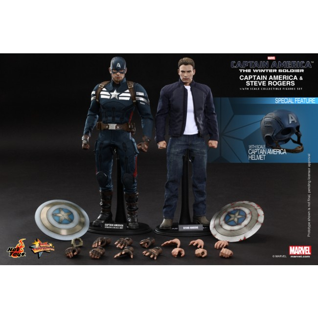 1//6 Scale Hot Toys MMS243 Captain America figure stand The Winter Soldier