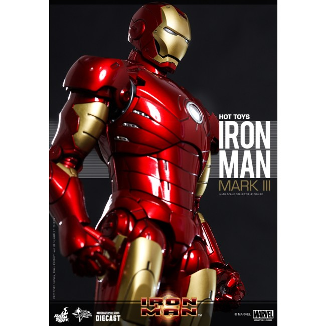 Hot Toys 1/6th Scale Iron Man Mark III Collectible Diecast Figure