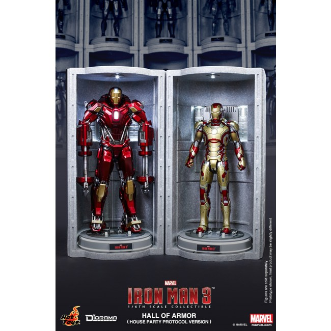 Hot Toys 1/6th Scale Iron Man 3 Hall of Armor (House Party ...
