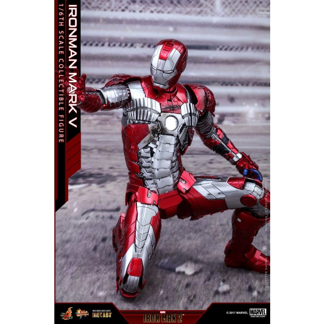 Hot Toys 16th Scale Mms400d18 Iron Man 2 Mark V Diecast Figure