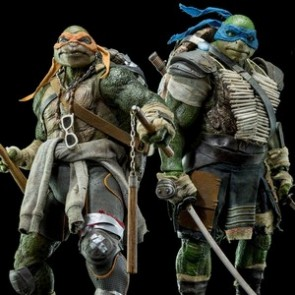 ThreeZero 1/6th Scale TMNT Movie Leonardo and Michelangelo Figure