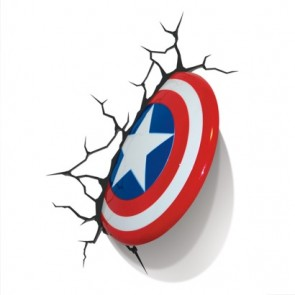 3D LightFX Marvel Captain America Shield Deco Light