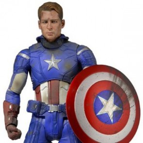 "Neca 18"" Battle Damaged Captain America Action Figure"