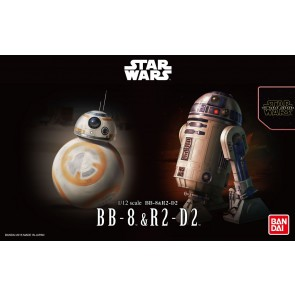 Bandai Star Wars 1/12 Scale BB-8 & R2-D2 Model Kit