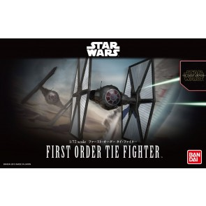 Bandai Star Wars 1/72 Scale First Order TIE Fighter Model Kit