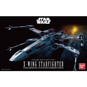 Bandai Star Wars 1/72 Scale X-Wing Starfighter Model Kit