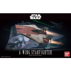 Bandai Star Wars 1/72 Scale A-Wing Starfighter Model Kit