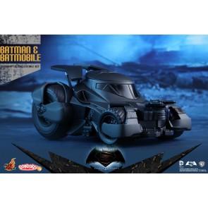Hot Toys COSB228 Batman v Superman: Dawn of Justice Batman and Batmobile Cosbaby Collectible Set