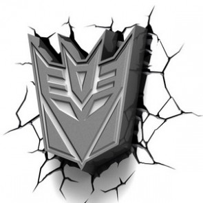 3D LightFX Transformers Decepticons Logo Deco Light