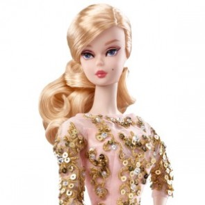 2017 Barbie BFMC Silkstone Blush & Gold Cocktail Dress Doll