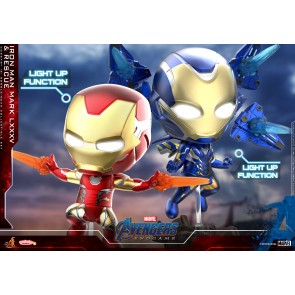 Hot Toys COSB650 Iron Man Mark LXXXV & Rescue Cosbaby (S) Bobble-Head Collectible Set