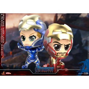 Hot Toys COSB667 Iron Man Mark LXXXV & Rescue (Unmasked Version) Cosbaby (S) Bobble-Head Collectible Set