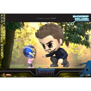 Hot Toys COSB657 Tony Stark and Morgan Stark Cosbaby (S) Bobble-Head Collectible Set