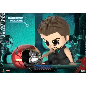 Hot Toys COSB653 Tony Stark with Iron Man helmet Cosbaby (S) Bobble-Head