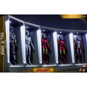 Hot Toys MMSC012 Iron Man 3 Iron Man Hall of Armor Miniature Collectible