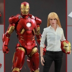 Hot Toys 1/6th Scale Iron Man 3 Pepper Potts & Mark IX Collectible Figures Set