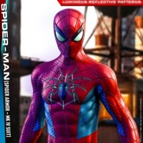 Hot Toys 1/6th Scale VGM43 Marvel's Spider-Man - Spider-Man (Spider Armor - MK IV Suit) Figure