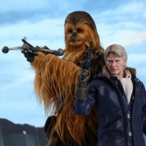 Hot Toys 1/6th Scale MMS376 Star Wars: The Force Awakens Han Solo & Chewbacca Set