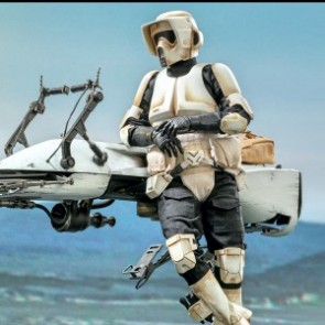 Hot Toys 1/6th Scale TMS017 The Mandalorian: Scout Trooper and Speeder Bike Collectible Set