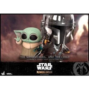 Hot Toys COSB741 Mandalorian and The Child Cosbaby (S) Bobble-Head Collectible Set