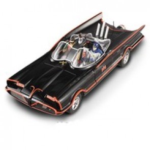 Hot Wheels Elite 1:18 Classic TV Batmobile (with Batman & Robin Figures)