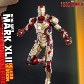 Hot Toys 1/4th Scale QS008 Iron Man 3 Mark XLII Figure (Deluxe Version)