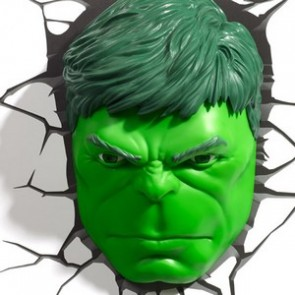 3D LightFX Marvel Hulk Face Deco Light