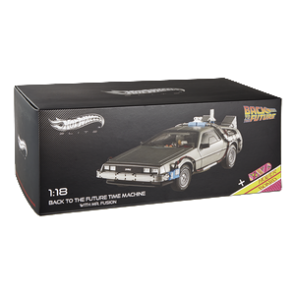 Hot Wheels Elite 1:18 Scale Back To The Future DeLorean With Opening Mr Fusion