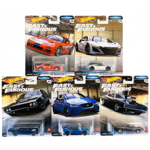 Hot Wheels 1:64 Scale Fast & Furious: Full Force (Set of 5)
