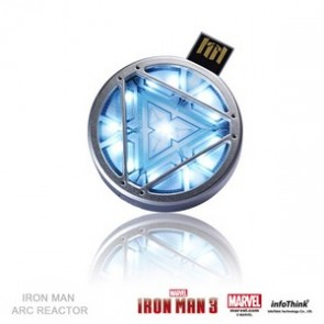 Iron Man 3 Official USB Flashdrive 8GB Arc Reactor