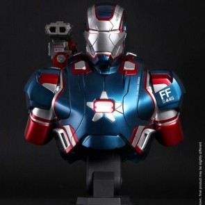 Hot Toys 1/4th Scale Iron Man 3 Iron Patriot Collectible Bust