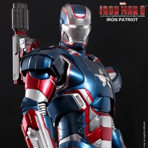 Hot Toys 1/6th Scale Iron Man 3 Iron Patriot Diecast Figure