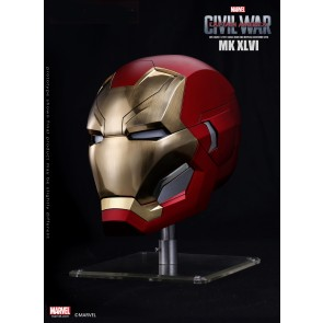 Marvel 1:1 Scale Iron Man MK46 Helmet (Metal Brushed Version)