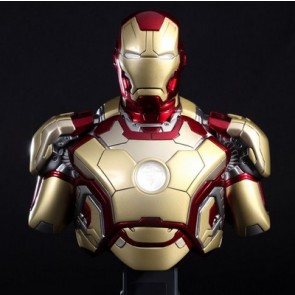 Hot Toys 1/4th Scale Iron Man 3 Mark XLII Collectible Bust
