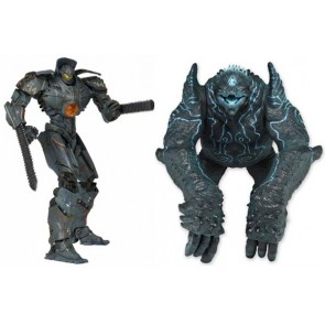 "Neca Pacific Rim 7"" Deluxe Figure 2-Pack: Gipsy Danger VS Leather Back"