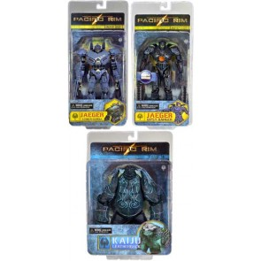 "Neca Pacific Rim 7"" Series 2: Set of 3 (Battle Damaged Gypsy Danger, Striker Eureka & Leatherback)"