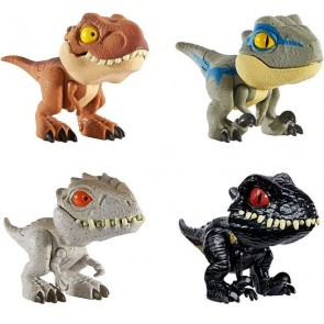 Mattel Jurassic World Snap Squad Mini Figures Set of 4 (Wave 1)