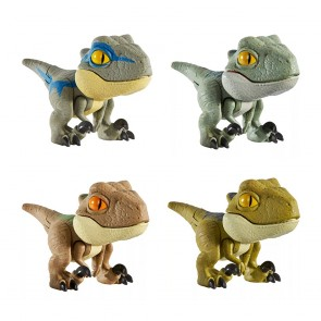Mattel Jurassic World Snap Squad Mini Figures Set of 4 (Wave 3)