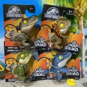 Mattel Jurassic World Snap Squad Mini Figures Set of 4 (Wave 5)