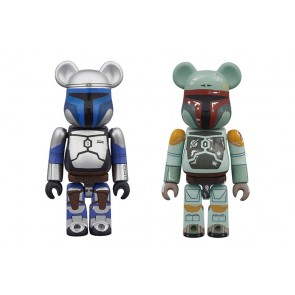 100% Bearbrick Star Wars Boba Fett and Jango Fett 2-Pack