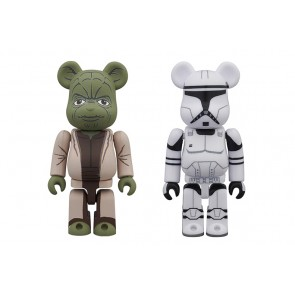 100% Bearbrick Star Wars Yoda and Clone Trooper 2-Pack