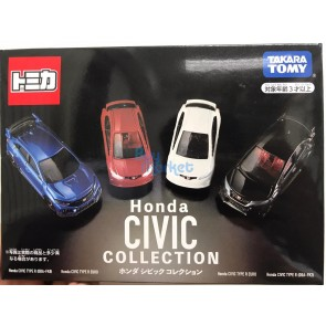 Tomica Diecast Model Honda Civic Collection 4-Cars Special Set (Asia Exclusive)