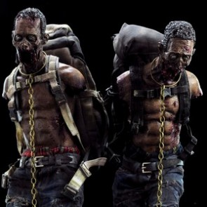 3A 1/6th Scale The Walking Dead  Michonne's Zombie Pet Figure Set