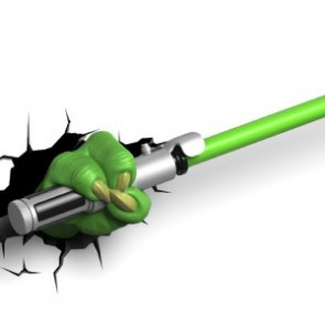 3D LightFX Star Wars Yoda LightSaber Deco Light