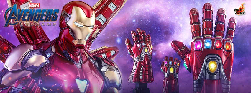 Hot Toys Avengers Endgame Collectible Figures and Gauntlets